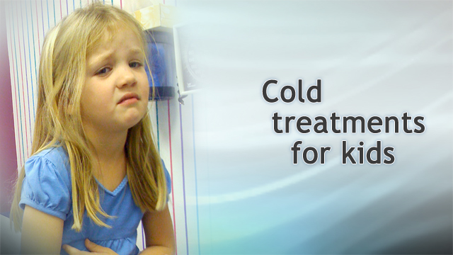 <div class=media-desc><strong>Cold treatments for kids</strong><p>What do you do when your child has a cold? Dr. Alan Greene explains ways to treat your child's cough, sore throat, and congestion.</p></div>